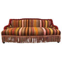 Custom Made Sofa in Vintage Flat-Woven Kilim