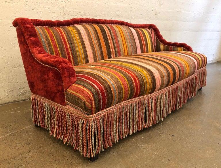 Sofa nach Maß aus Vintage Flach Gewebtem Kelim Teppich im Angebot ...