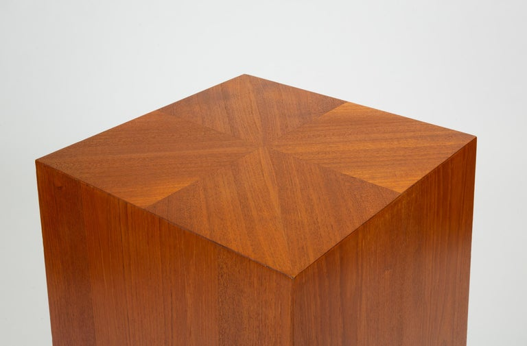 Custom-Made Teak Chest of Drawers with Sloped Sides For Sale 6