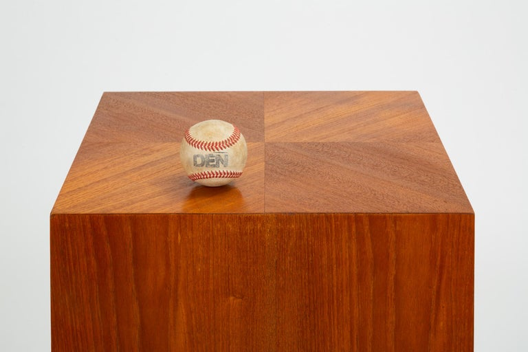 Custom-Made Teak Chest of Drawers with Sloped Sides For Sale 7