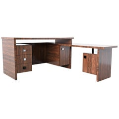 Custom Made Zebrano Wood Executive Desk Belform, 1960