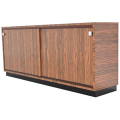 Custom Made Zebrano Wood Sideboard Belform, 1960