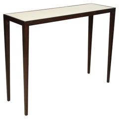 Custom Mahogany and Parchment Console in the Jean-Michel Frank Manner