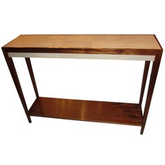 Custom Mahogany Console with Shagreen Top in the Jean-Michel Frank Manner