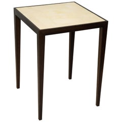 Custom Mahogany Table with Shagreen Top in the Jean Michel Frank Manner