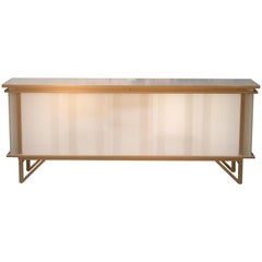 Custom Maple & Plastic Illuminated Sideboard Buffet Cabinet by Peter Danko