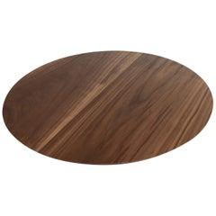 Custom Medium Round Serving Board in Walnut by Adesso Imports