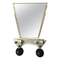 Custom Memphis Style Machined Metal Table Top Vanity Mirror