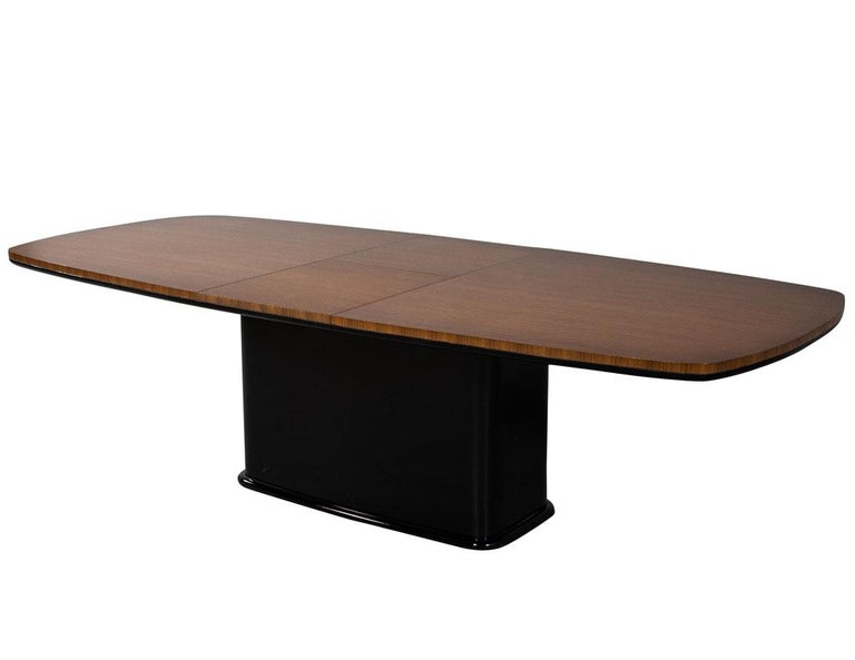 Custom Mid-Century Modern Inspired Dining Table by Carrocel In New Condition For Sale In North York, ON