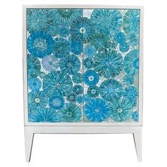 Custom Mini 2-Door Blossom Cabinet by Ercole Home