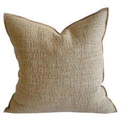 Custom Minimalist Natural Linen Accent Pillow