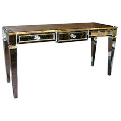 Custom Mirrored Console Table