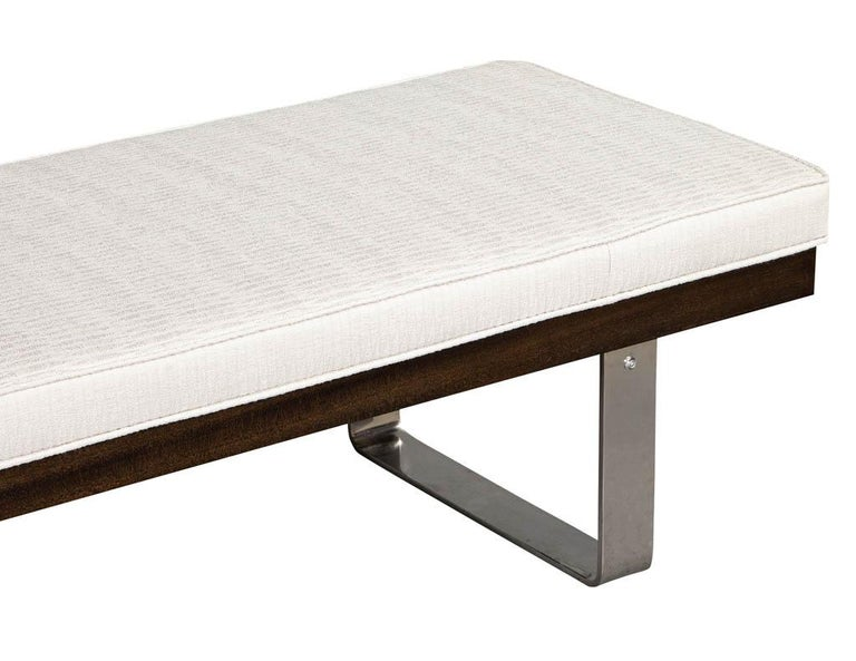 Canadian Custom Modern Upholstered Bench For Sale