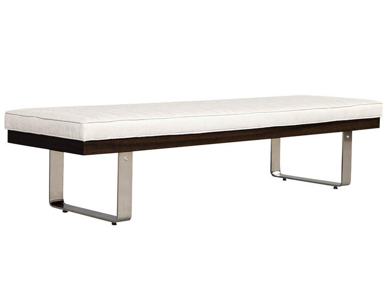Custom Modern Upholstered Bench For Sale 1