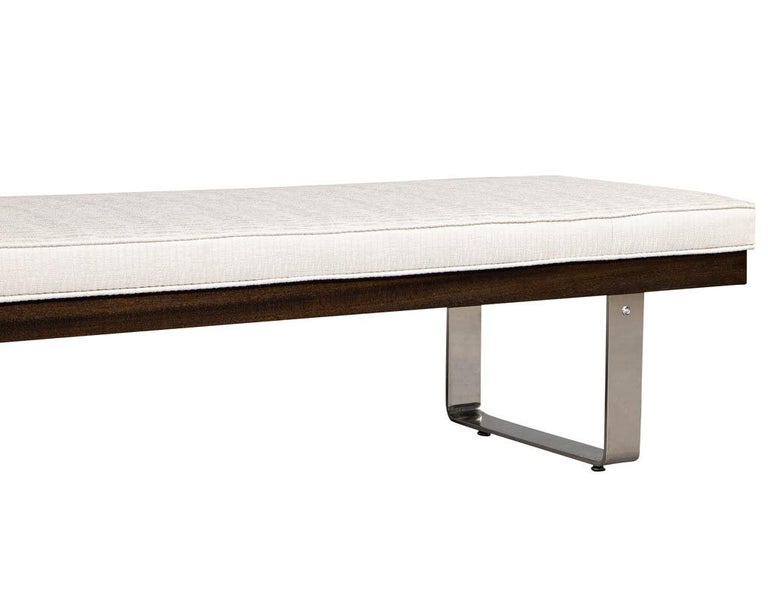 Custom Modern Upholstered Bench For Sale 2