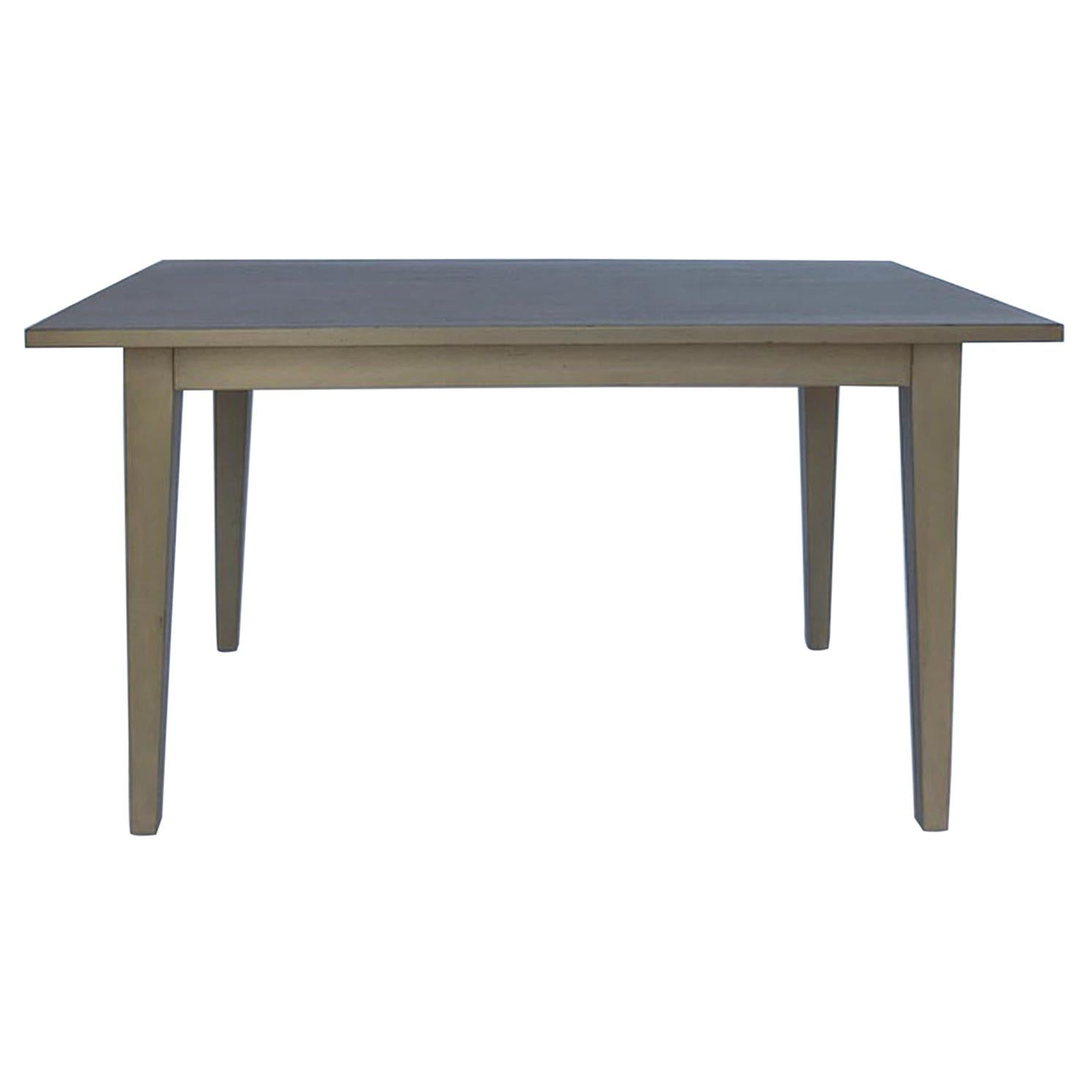 Custom Modern Walnut Table with Leaves