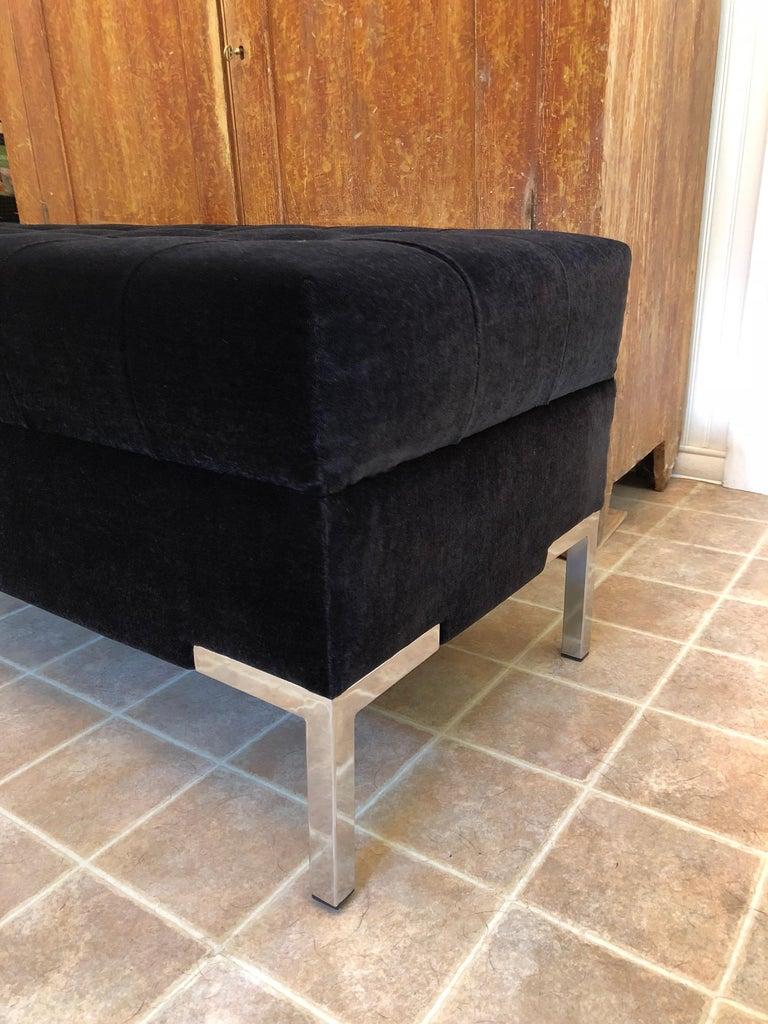 Custom Mohair Bench For Sale 3