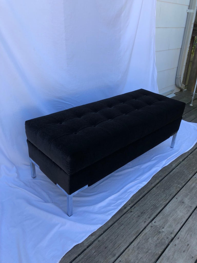 American Custom Mohair Bench For Sale