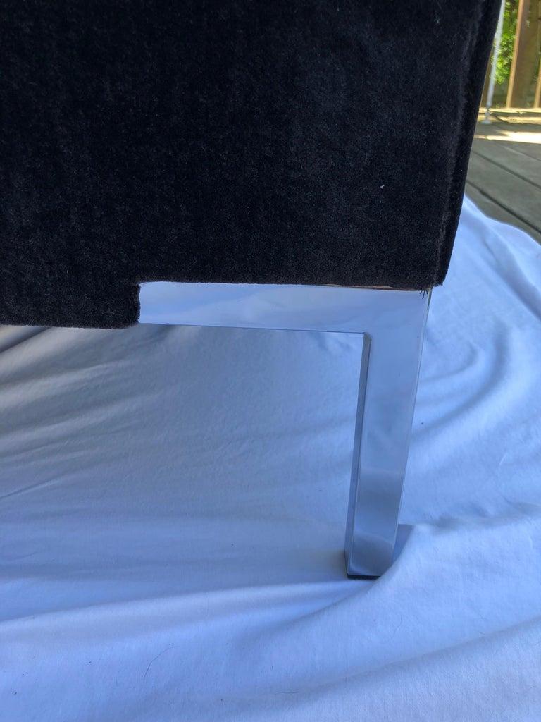 Contemporary Custom Mohair Bench For Sale