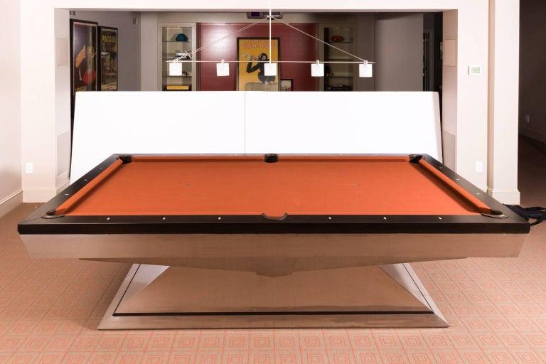Steel Custom Monarch Pool Table For Sale