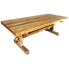 Custom Monkeypod Slab Dining Table
