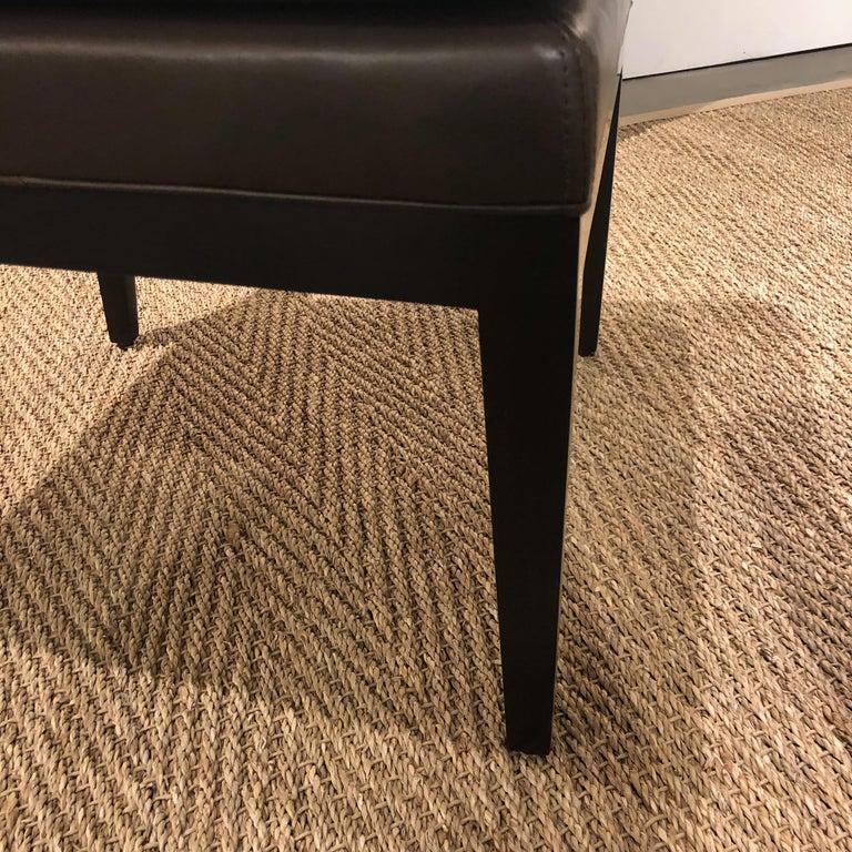 American Custom Morgan Mini Brown Leather Chair For Sale