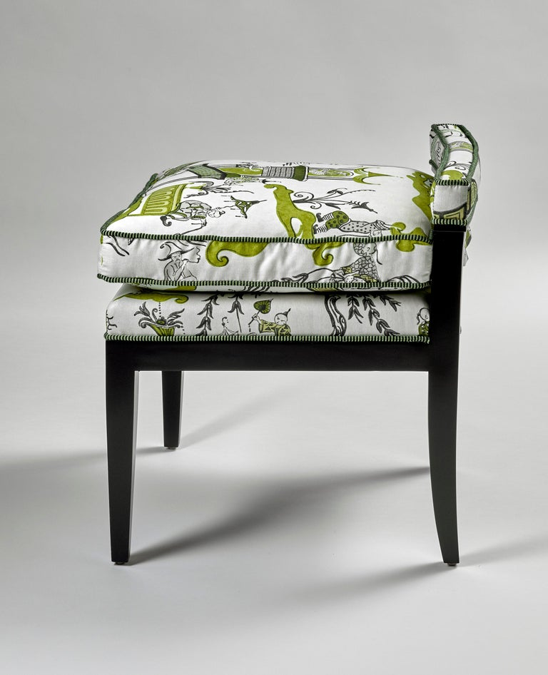 Custom Morgan Mini Brown Leather Chair For Sale 1