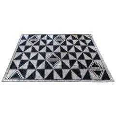 Custom Moroccan Rug with Geometric Triangles