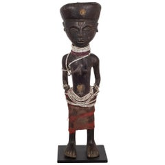 Custom Mounted African Chokwe Tribe Angolan Figure