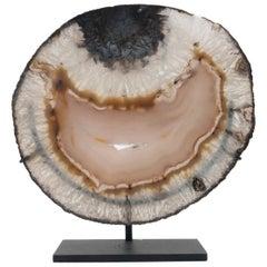 Custom Mounted Agate Stone Mineral Geode Slice