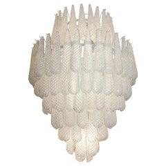 Custom Murano Honeycomb Glass Pendant Chandelier
