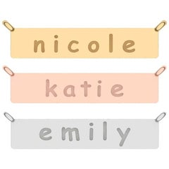 Custom Nameplate in White Yellow Rose Gold