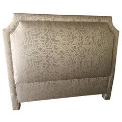 Custom Never Used Plush Upholstered Queen Headboard