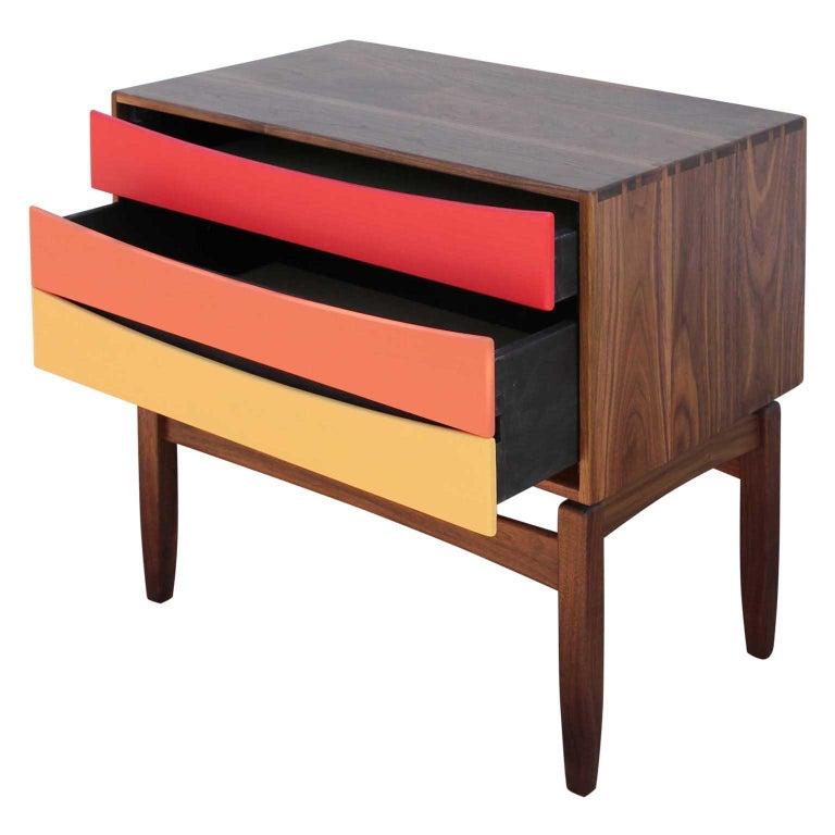 Mid-Century Modern Custom Norm Stoeker Side Table or Nightstand Arne Vodder Danish Modern Style For Sale