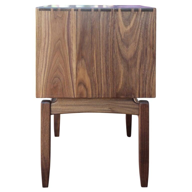 American Custom Norm Stoeker Side Table or Nightstand Arne Vodder Danish Modern Style For Sale