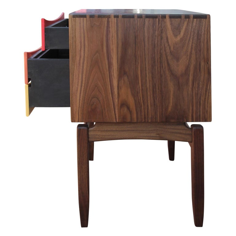Custom Norm Stoeker Side Table or Nightstand Arne Vodder Danish Modern Style In New Condition For Sale In Houston, TX