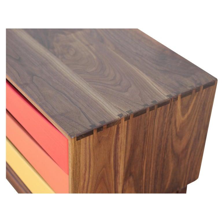 Contemporary Custom Norm Stoeker Side Table or Nightstand Arne Vodder Danish Modern Style For Sale