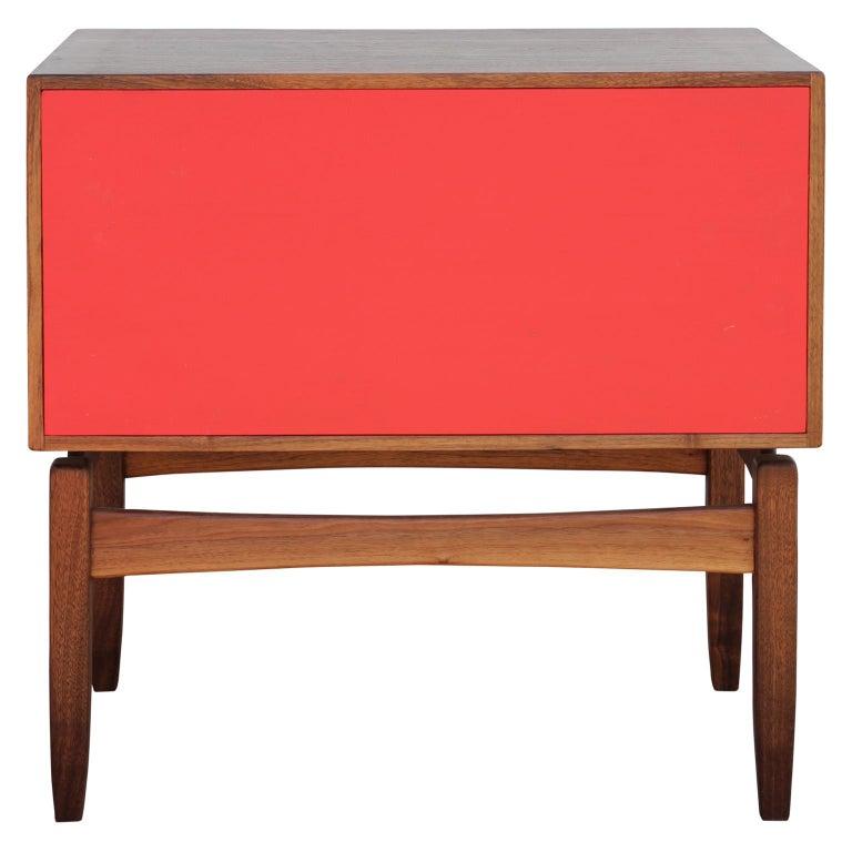 Wood Custom Norm Stoeker Side Table or Nightstand Arne Vodder Danish Modern Style For Sale