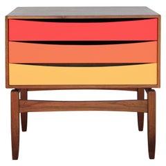 Custom Norm Stoeker Side Table or Nightstand Arne Vodder Danish Modern Style