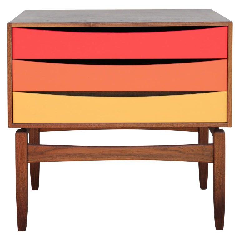 Custom Norm Stoeker Side Table or Nightstand Arne Vodder Danish Modern Style For Sale
