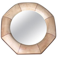 Custom Octagonal Mirror with Maple and Rosewood Inlay