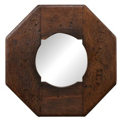 Custom Octagonal-Shaped Mirror from an Old Cooking Utensil w/ Wall Projection