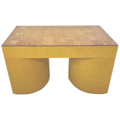Custom Made Gold Leaf Occasional Cocktail Table