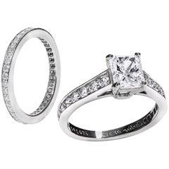 Custom Order: 1 Carat Radiant Diamond Engagement Ring and Wedding Band Set