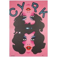 Custom Order - Deposit on 1974 Polish CYRK Circus Poster, Conjoined Girls