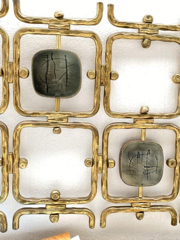 Custom Order Osvaldo Borsani Bed with a Series of 9 Enameled Sculptures, 1958-60 For Sale 3
