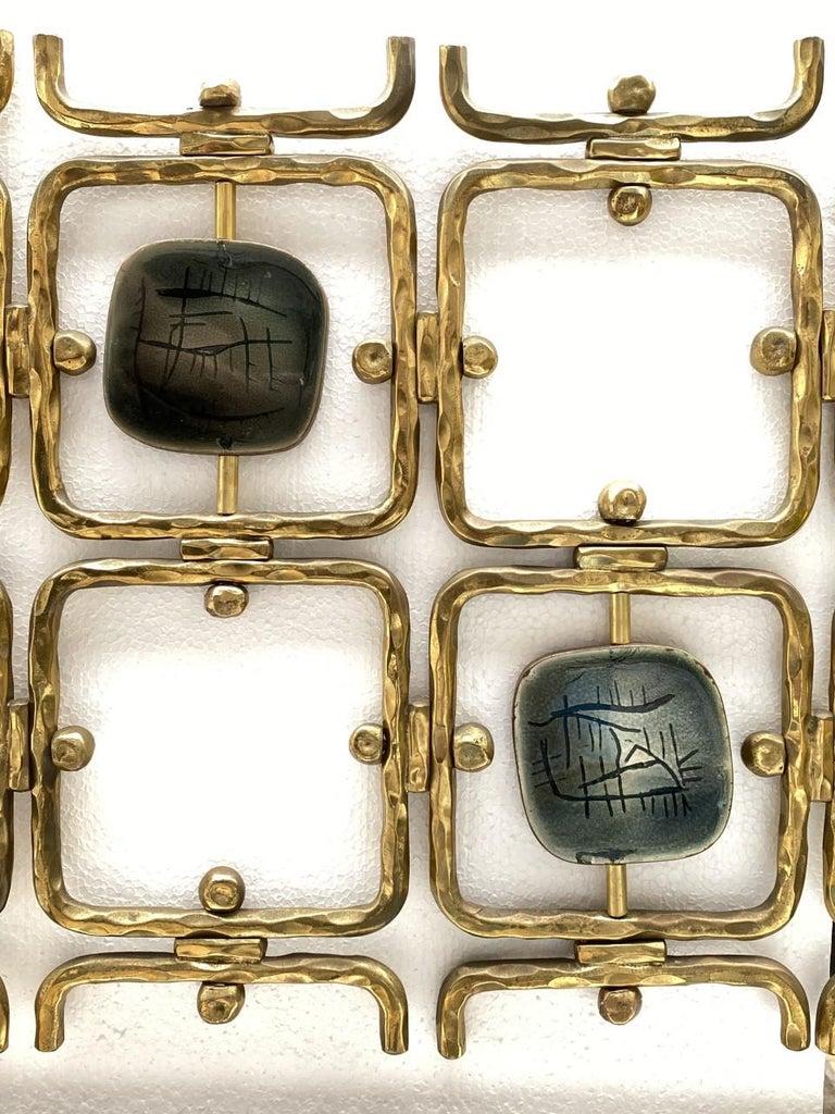 Custom Order Osvaldo Borsani Bed with a Series of 9 Enameled Sculptures, 1958-60 For Sale 4