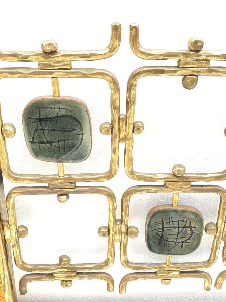 Custom Order Osvaldo Borsani Bed with a Series of 9 Enameled Sculptures, 1958-60 For Sale 1