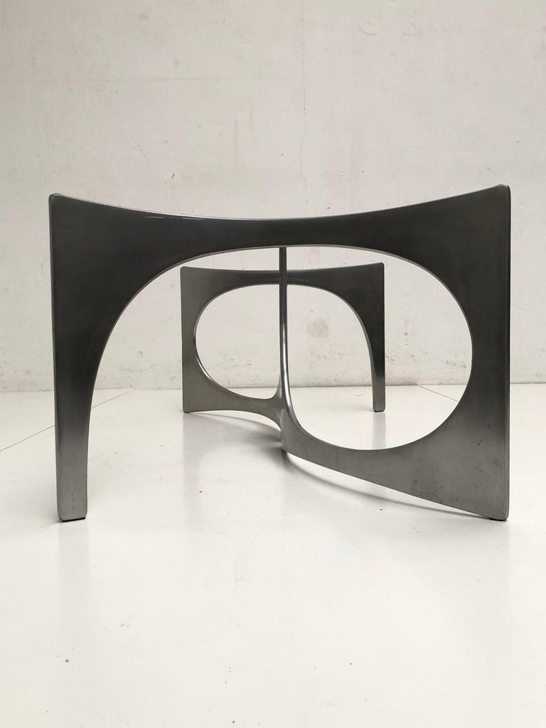 Mid-Century Modern Custom Order Twin Sculptural Form Knut Hesterberg Coffee Table, 1971, Published For Sale