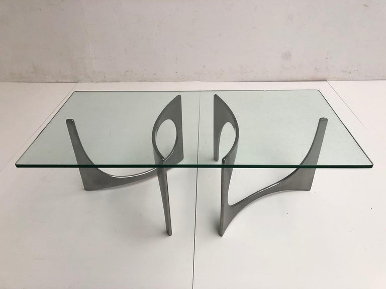 German Custom Order Twin Sculptural Form Knut Hesterberg Coffee Table, 1971, Published For Sale